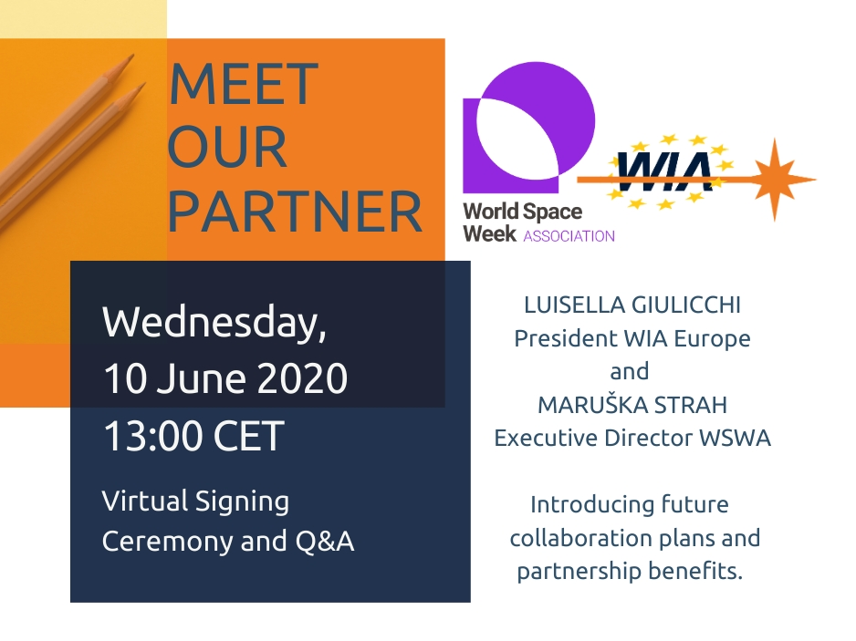Join signing ceremony between WIA-E and World Space Week Association