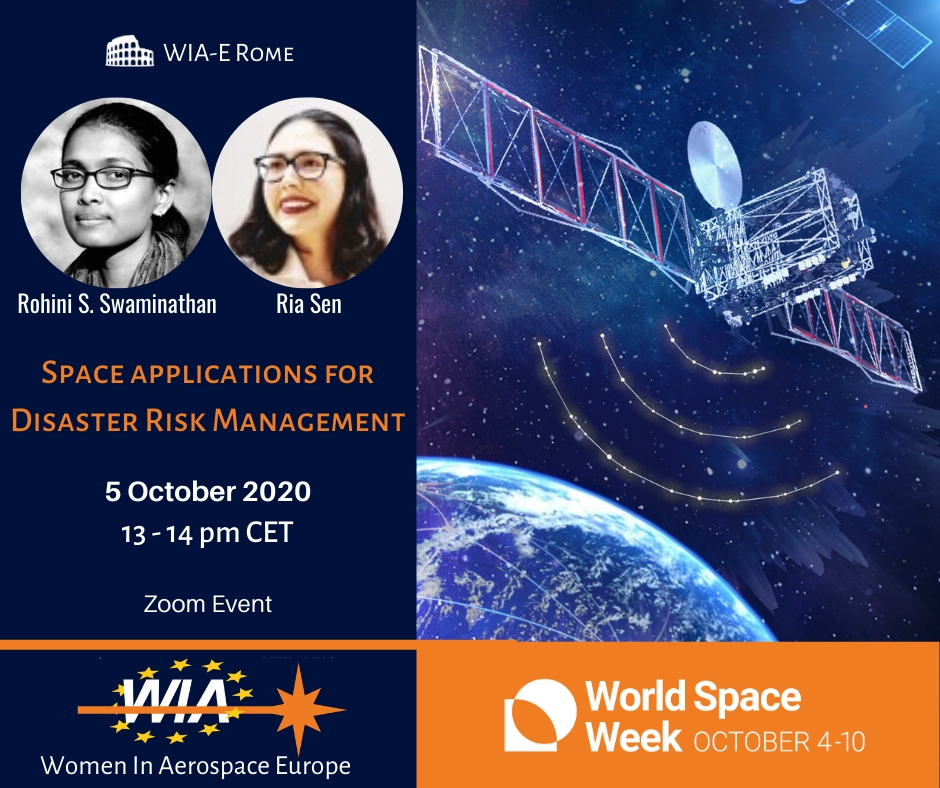 """WIA-E Rome invites to Webinar titled """"Space applications for Disaster Risk Management"""""""
