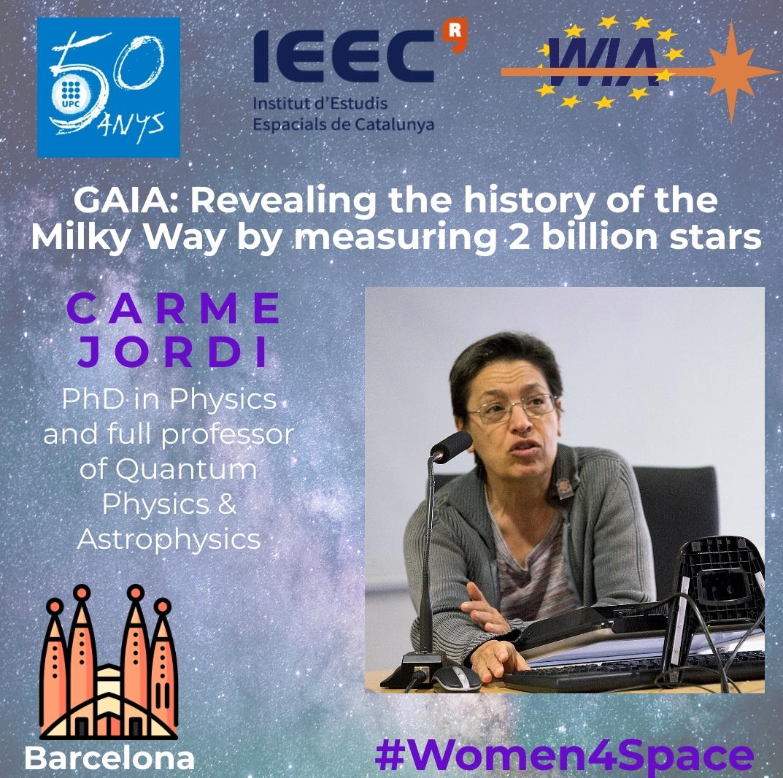 "WIA-E Barcelona invite to ""GAIA: Revealing the history of the Milky Way by measuring 2 billion stars"" by Carme Jordi"