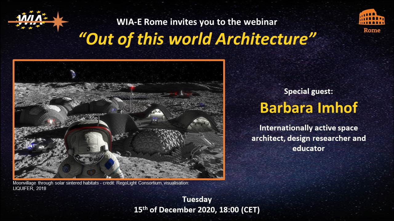 "WIA-E Rome invites to webinar ""Out of this world Architecture"""