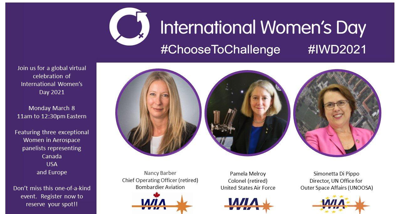 Global virtual WIA celebration of the International Women's Day 2021