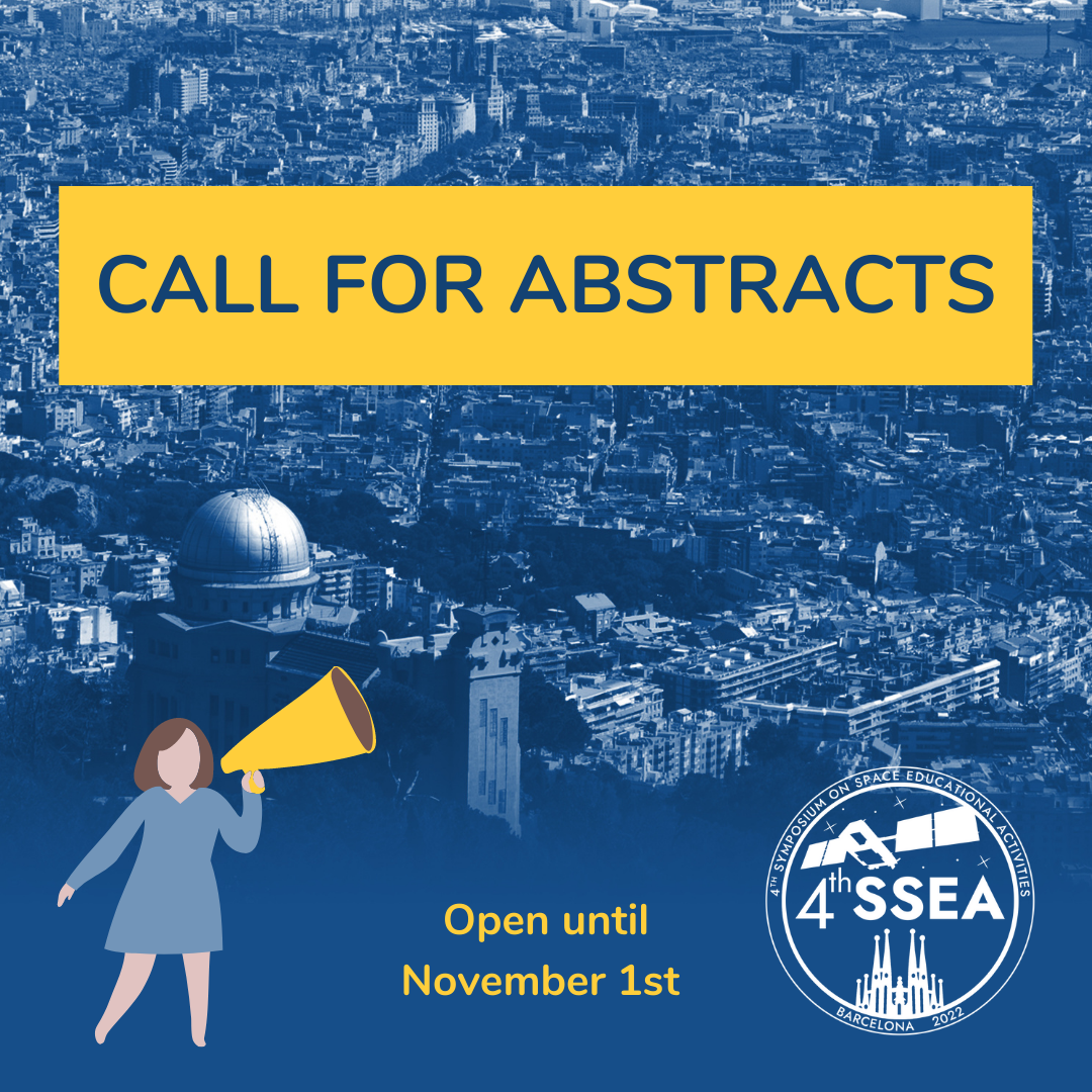 Call for abstracts: 4thSymposium on Space Educational Activities